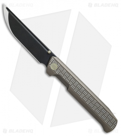 "WE Knife Co. Straight Up Frame Lock Knife Bronze Ti (3.9"" Black) 710G"