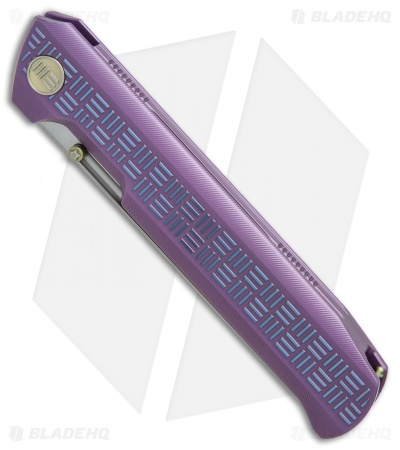 "WE Knife Co. Straight Up Frame Lock Knife Purple (3.9"" Satin) 710B"