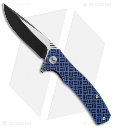 "WE Knife Co. Blitz Liner Lock Knife Blue G-10 (3.6"" Black SW) 711A"