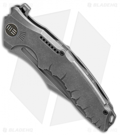 "WE Knife Co. Chimera Frame Lock Knife Gray Ti (3.9"" BB, Stonewash) 814B"