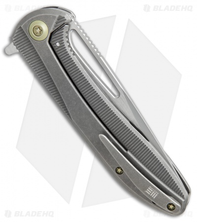 "We Knife Co. Cirrus 615G  Frame Lock Knife Gray Titanium (3.7"" Bead Blast/Satin)"