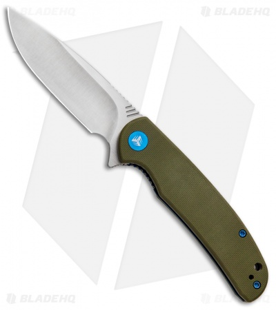 "WE Knife Co. Practic Liner Lock Knife OD Green G-10 (3.3"" Satin M390) 809A"
