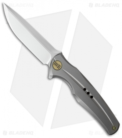 "WE Knife Co. 601J Frame Lock Knife Gray Titanium (3.75"" Satin)"