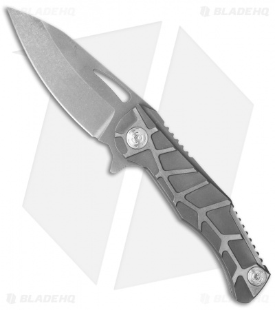 "Mikkel Willumsen Urban Tactical Dredd Flipper Knife Titanium (3.5"" Acid Wash)"