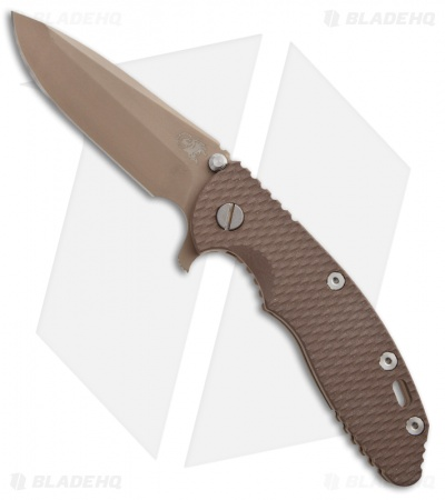 "Hinderer Knives XM-18 Spanto Flipper Knife FDE Brown G-10 (3.5"" Dark Earth)"