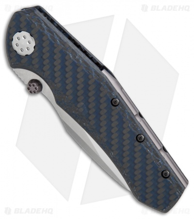 "Zero Tolerance 0850 Sub-Frame Lock Knife Blue Carbon Fiber (3.75"" Satin) ZT"