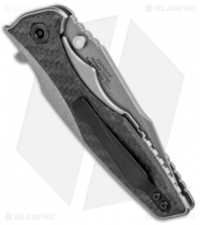 "Zero Tolerance Hinderer 0393GLCF Frame Lock  Knife Glow CF (3.5"" Working) ZT"
