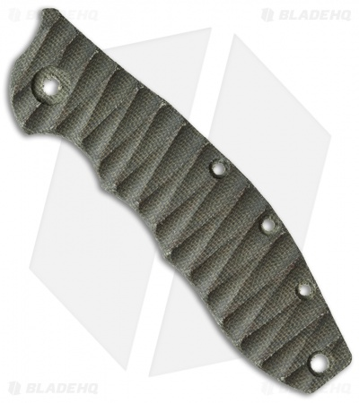 Zero Tolerance 0562 OD Green Sculpted Micarta Replacement Scale by The Preacher