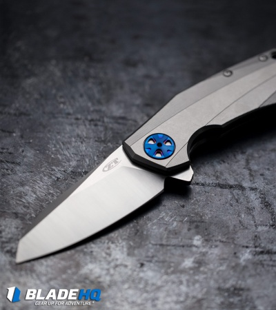 "Zero Tolerance 0456 Flipper Knife Titanium (3.25"" SW/Satin) ZT"