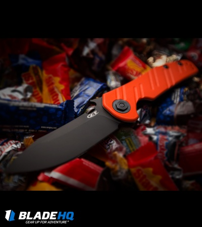 "Zero Tolerance 0630ORBLK Emerson Knife Orange G10 (3.6"" Black) ZT"