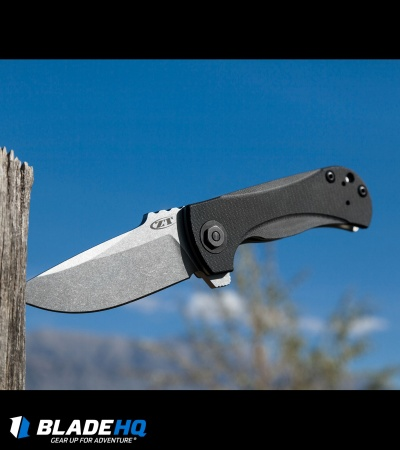 "Zero Tolerance Les George 0909 Flipper Knife Black G10 (3.875"" Stonewash) ZT"