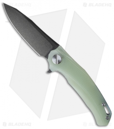"Stedemon Knife Co. ZKC Flipper Knife Jade G-10 (4"" Black SW) D-01"
