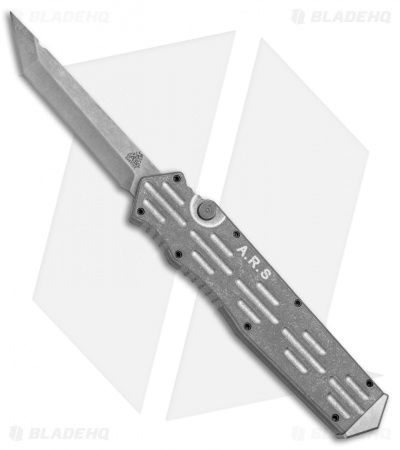 "A.R.S. Gen III Tanto OTF Automatic Knife Tumbled (3.5"" Stonewash)"