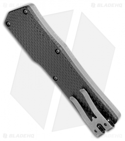 "Heretic Knives Cleric OTF Automatic Knife Stainless Steel/Carbon Fiber (3.5"" SW)"