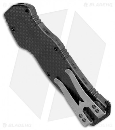 Heretic Knives Hydra OTF Automatic Knife Full Carbon Fiber w/ Blue Ti Cover