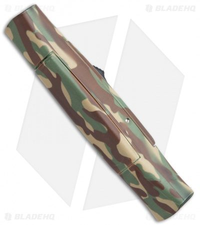 "AKC 077 Concord OTF Automatic Knife Green Camo (3.25"" Gold )"