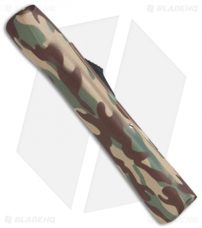 "AKC Concord OTF Automatic Knife Camo Rubber (3.25"" Gold)"