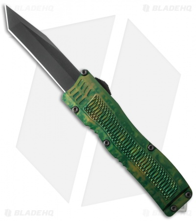 "Conquest Tactical Fury D/A OTF Automatic Knife Green Camo (3.75"" Black)"