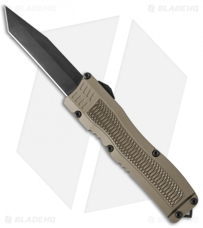 "Conquest Tactical Fury D/A OTF Automatic Knife Desert Tan (3.75"" Black)"