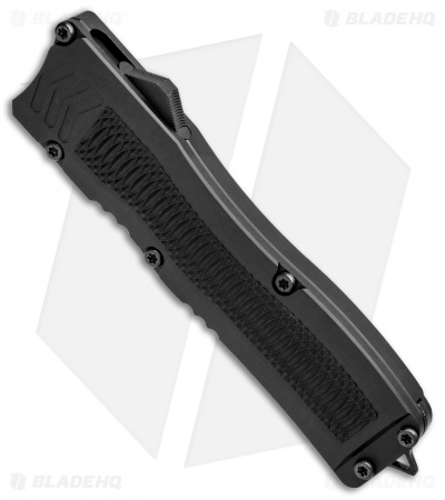 "Conquest Tactical Fury D/A OTF Automatic Knife Black (3.75"" Stonewash)"
