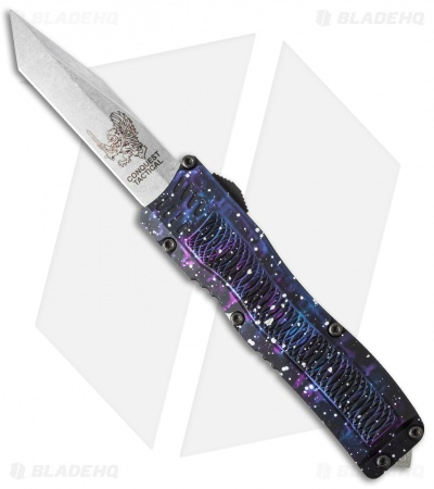 "Conquest Tactical Fury D/A OTF Automatic Knife Purple Camo (3.75"" Stonewash)"