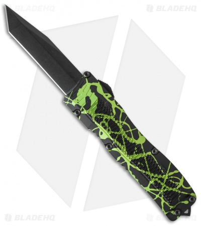"Conquest Tactical Fury D/A OTF Automatic Knife Zombie Green (3.75"" Black)"