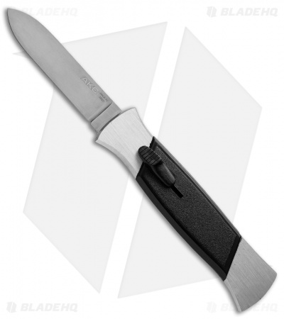 "AKC 777 Blackfinger OTF Automatic Knife Brushed Aluminum (3.375"" Satin Flat)"