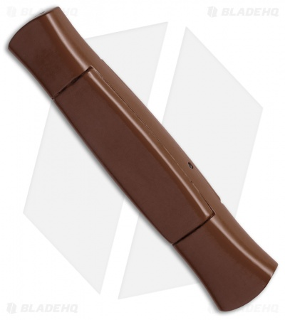 "AKC 077 Concord OTF Automatic Knife Brown (3.25"" Black Flat)"