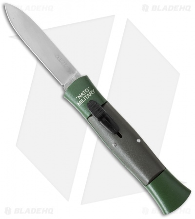 "AKC 007 Concord NATO Military OTF Automatic Knife Green/Gray (2.75"" Satin Flat)"