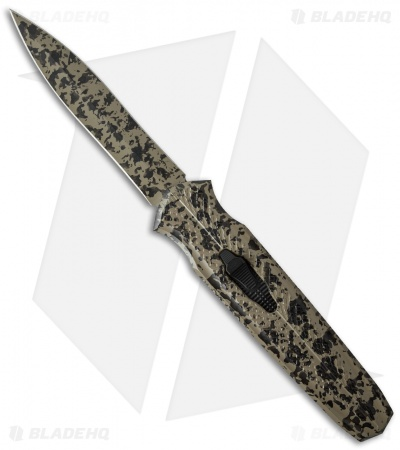 "J.A. Harkins HHK Triton IIA Tan Speckle OTF Automatic Knife (4"" Camo)"