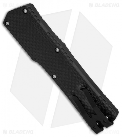"Heretic Knives Cleric OTF Automatic Knife Black/Carbon Fiber (3.5"" Stonewash)"