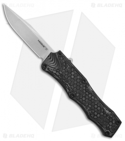 "Hogue Knives OTF Automatic Knife Black G-Mascus (3.375"" Stonewash)"