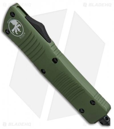 "Microtech Combat Troodon Bowie OTF Knife OD Green (3.8"" Black) 146-1OD"