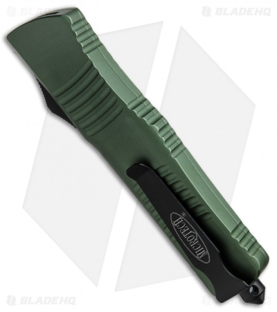 "Microtech Combat Troodon D/E OTF Automatic Knife Green (3.8"" Black Serr) 142-2OD"