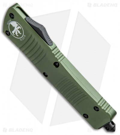 "Microtech Combat Troodon Tanto OTF Automatic Knife Green (3.8"" Black) 144-1OD"