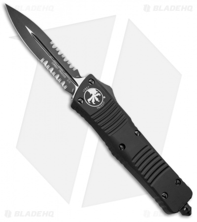 "Microtech Tactical Combat Troodon OTF Dagger Knife (3.8"" Black Serr) 142-2T"