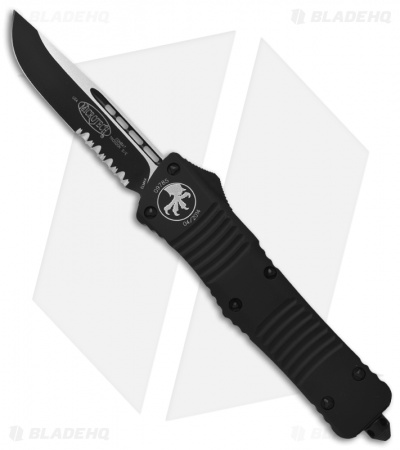 "Microtech Combat Troodon OTF Automatic Knife Tactical (3.8"" Black Serr) 143-2T"