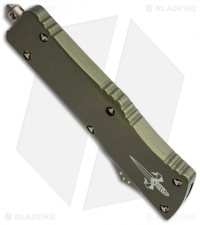 "Marfione Custom Combat Troodon Clip Point OTF Knife OD (3.8"" Bronze DLC MP)"