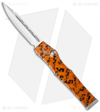 Marfione Custom Microtech Halo V Splash OTF Automatic Knife Orange (Mirror)