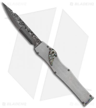 Microtech Marfione Custom Stainless V Knife Abalone (Nightmare Damascus)