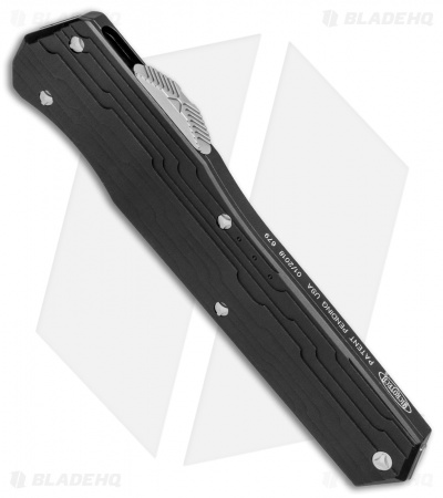 "Microtech Cypher D/E OTF Automatic Knife Black (4"" Stonewash) 242-10"