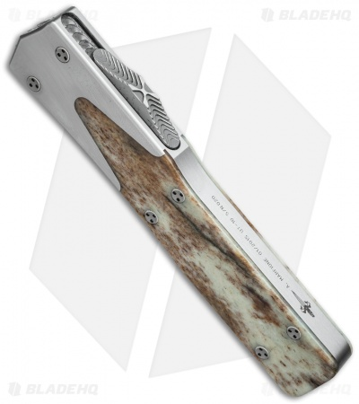 "Microtech Marfione Custom UT-10 D/E OTF Knife Giraffe Bone (3.5"" High Polish)"