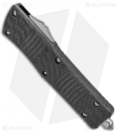 "Microtech Combat Troodon Hellhound Tanto OTF Knife CF (3.8"" Apocalyptic)"
