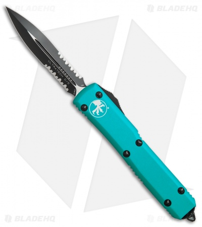 "Microtech Ultratech D/E OTF Automatic Knife Turquoise CC (3.4"" Black Serr)"