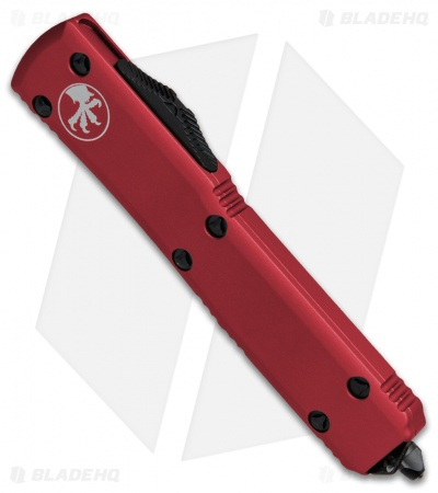 "Microtech Ultratech D/E OTF Automatic Knife Red CC (3.4"" Black Serr)"