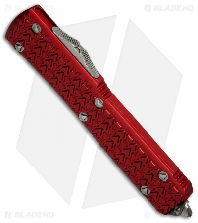 "Microtech Ultratech T/E OTF Automatic Knife Tri-Grip Red (3.4"" Satin Serr)"