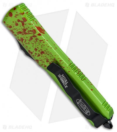 "Microtech Ultratech Zombie Tech D/E Automatic Knife CC (3.5"" Black) 122-1Z"