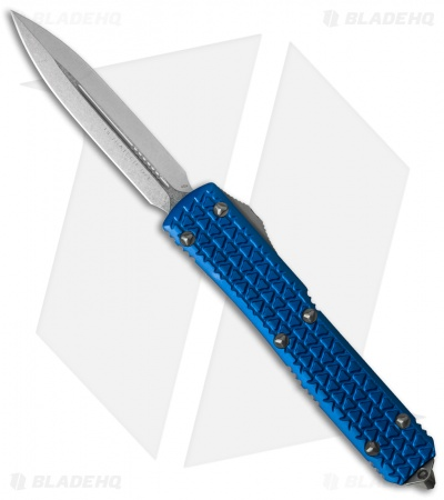 "Microtech Ultratech D/E OTF Automatic Knife Tri-Grip Blue (3.4"" Stonewash)"