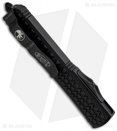 "Microtech Ultratech Tanto OTF Auto Knife Tri-Grip (3.4"" Black Full Serr) 123-3T"