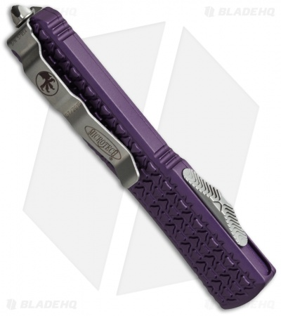 "Microtech Ultratech Bayonet OTF Automatic Knife Tri-Grip Purple (3.4"" Stonewash)"